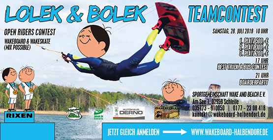 Lolek & Bolek Teamcontest Contest Wake and Beach Halbendorf